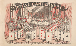 Poster for the Royal Canterbury Theatre of Varieties 1443